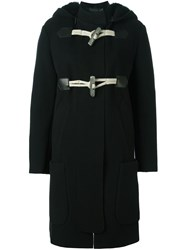 Calvin Klein Collection Oversized Single Breasted Coat Black