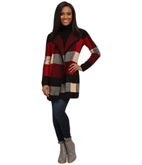 Pendleton Petite Plaid Cardigan Black Multi Women's Sweater