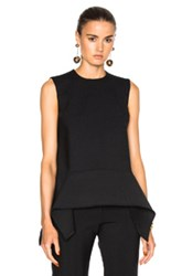 Victoria Beckham Sleeveless Drape Top In Black