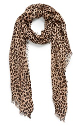 Sole Society Leopard Print Scarf Brown