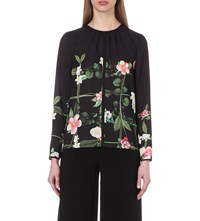 Ted Baker Keekee Printed Blouse Black