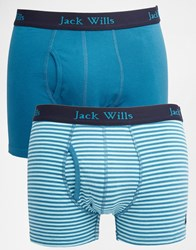 Jack Wills Charing Trunks In 2 Pack Blue