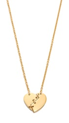 Marc By Marc Jacobs Broken Hearted Pendant Necklace Oro