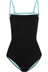 Alexander Wang T By Two Tone Bonded Swimsuit Black