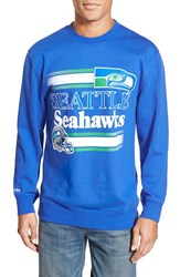 Men's Mitchell And Ness 'Seattle Seahawks' Tailored Fleece Crewneck Sweatshirt