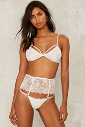 Nasty Gal Up To No Good Lace Panty White