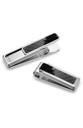 Men's M Clip 'Discovery Line' Stainless Steel Money Clip Black