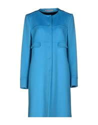 Fabrizio Lenzi Coats And Jackets Full Length Jackets Women Turquoise