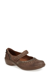 Aravon 'Dolly' Mary Jane Flat Women Stone