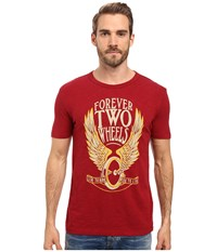 Lucky Brand Forever Two Wheels Graphic Tee Biking Red Men's T Shirt