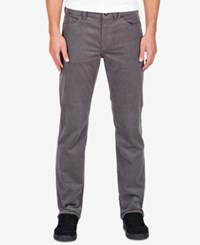 Volcom Men's Solver Five Pocket Corduroy Pants Pewter