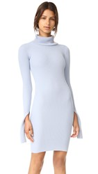 Jacquemus Turtleneck Rib Dress Sky Blue