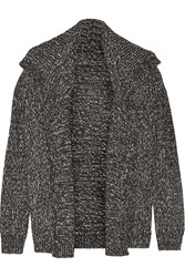 Theory Winxie Wool And Cotton Blend Cardigan Gray
