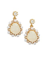 Tai Faux Pearl And Stone Drop Earring Gold