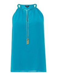 Episode Sleeveless Chiffon Top With Chain Detail Lagoon
