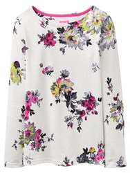 Joules Harbour Print Jersey Top Cream Floral