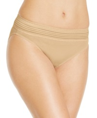 Warner's No Pinching No Problems Cotton High Cut Brief Rt2091p Toasted Almond
