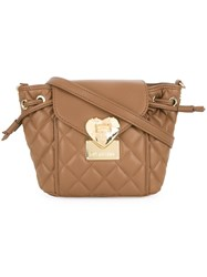 Love Moschino Quilted Crossbody Bag Brown