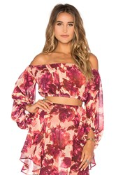 For Love And Lemons Wild Rose Top Red