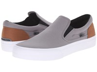 Dc Trase Slip On Tx Grey Black Brown Skate Shoes Blue
