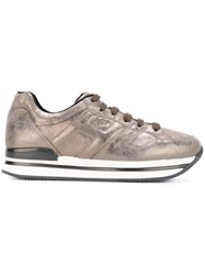 Hogan Panelled Sneakers Metallic