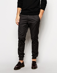 United Colors Of Benetton Chino Jogger With Cuffed Hem In Slim Fit Black