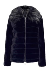 James Lakeland Long Sleeved Faux Fur Coat Black
