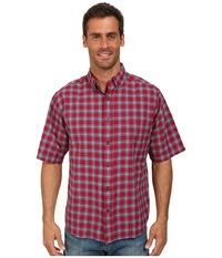Woolrich Weyland S S Shirt Red Currant Men's Short Sleeve Button Up