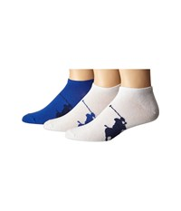 Polo Ralph Lauren 3 Pack Big Player On Sole Low Cut Bright Navy Blue Royal White Royal White Blue Men's Low Cut Socks Shoes Multi