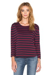 Obey Camille Long Sleeve Tee Maroon
