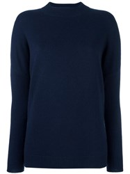 Allude High Neck Jumper Blue