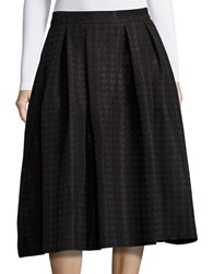 Karl Lagerfeld Houndstooth A Line Skirt Black