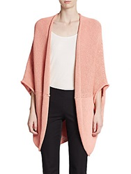 Lafayette 148 New York Oversized Open Cardigan Seashell Pink