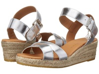 Kurt Geiger Libby Silver Leather Women's Wedge Shoes