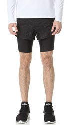 Satisfy Long Distance 8' Shorts Wrinkled Black