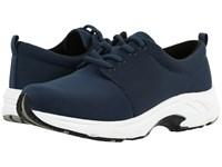 Drew Shoe Excel Navy Mesh Stretch Women's Lace Up Casual Shoes