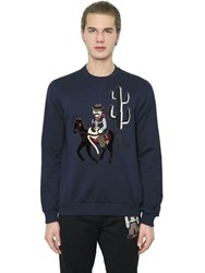 Dolce And Gabbana Western Patches Cotton Sweatshirt
