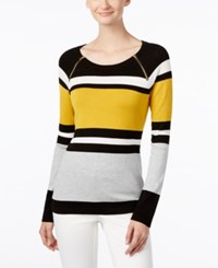 Inc International Concepts Colorblocked Sweater Only At Macy's Polished Gold