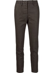 Kristensen Du Nord Concealed Fastening Cropped Trousers Brown
