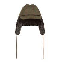 Christy Watson Shearling Tweed Cap Unisex Khaki