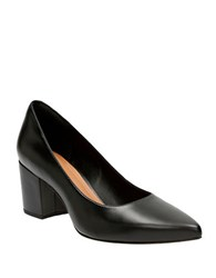 Clarks Pravana Rose Leather Pumps Black