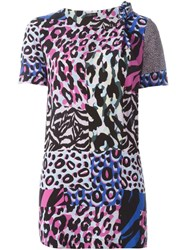 Versace 'Wild Patch' Short Sleeved Blouse Multicolour