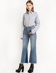 Pixie Market Two Way Striped Grey Shirt By New Revival