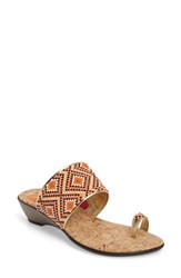 Love And Liberty Women's Sahalie Embellished Toe Ring Slide Sandal