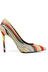 Emilio Pucci Printed Leather Pumps Beige