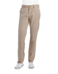 English Laundry Linen Straight Legged Pants Desert