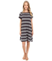 Allen Allen Stripe T Shirt Dress Jet Grey Women's Dress Gray