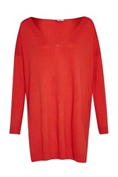 Great Plains Hardy Basics Longline Jumper Red