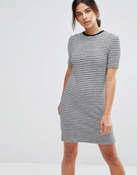 Native Youth Stripe Dress Navy White