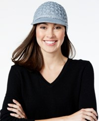 Calvin Klein Honeycomb Cable Cabbie Hat Heathered Mid Grey